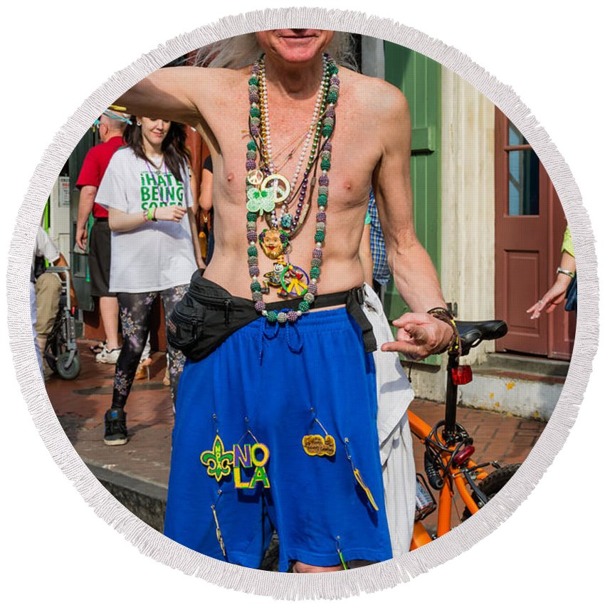 French Quarter Round Beach Towel featuring the photograph Curt by Steve Harrington