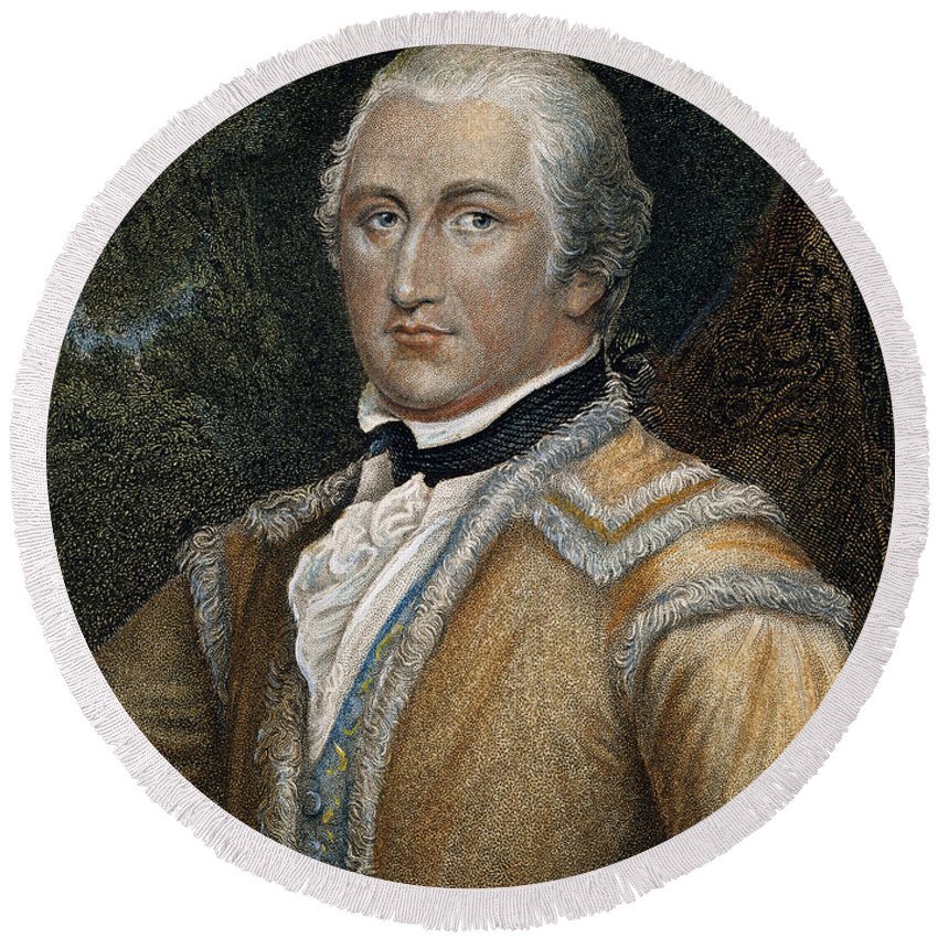 18th Century Round Beach Towel featuring the photograph Daniel Morgan (1736-1802) by Granger