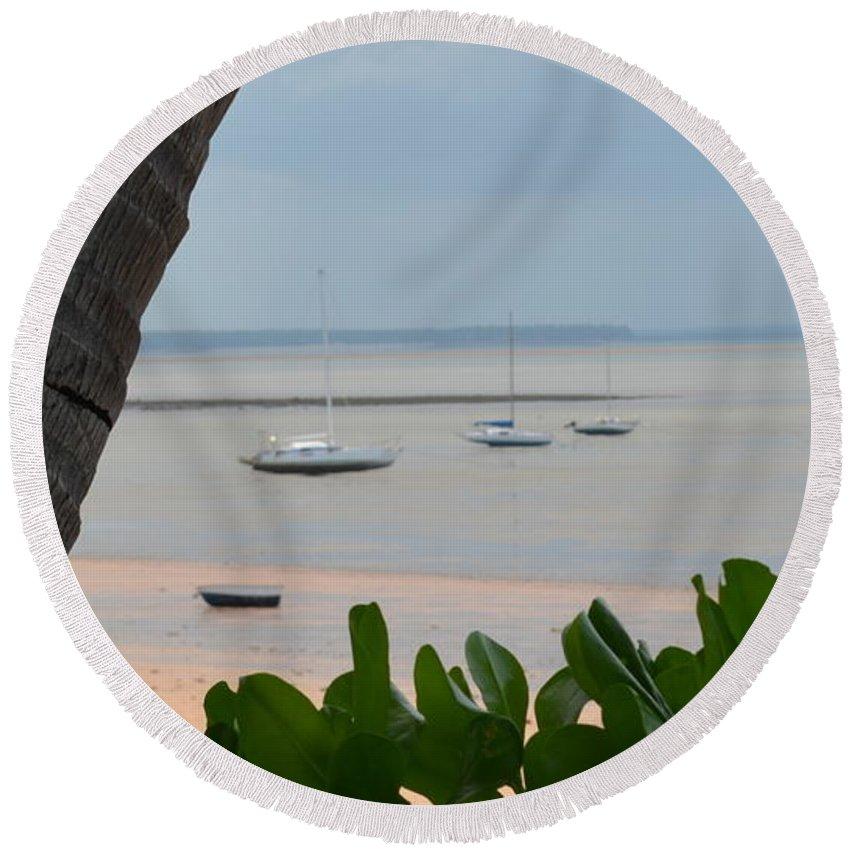 Darwin Round Beach Towel featuring the photograph Fannie Bay 1.1 by Cheryl Miller