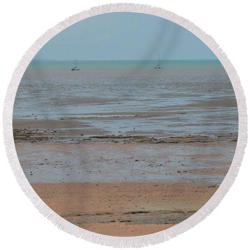 Darwin Round Beach Towel featuring the photograph Fannie Bay 1.5 by Cheryl Miller