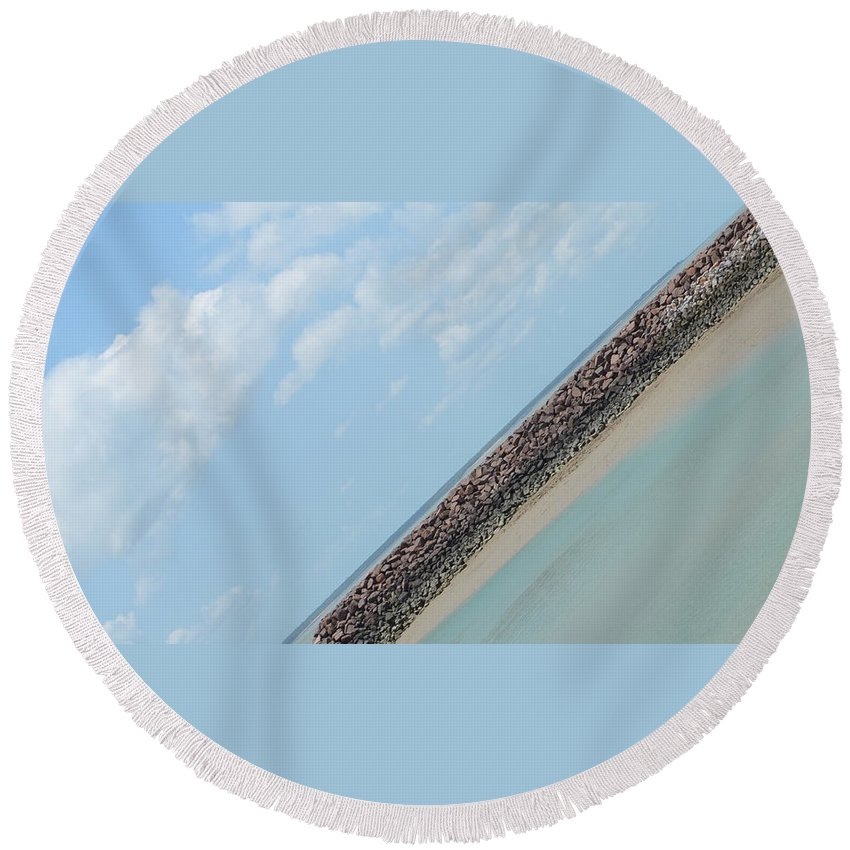Darwin Round Beach Towel featuring the photograph Fannie Bay 1.6 by Cheryl Miller