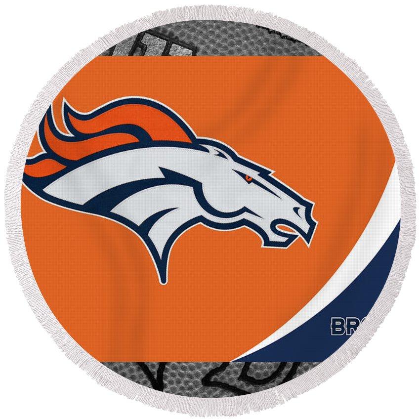 c00d9616 Denver Broncos Round Beach Towel