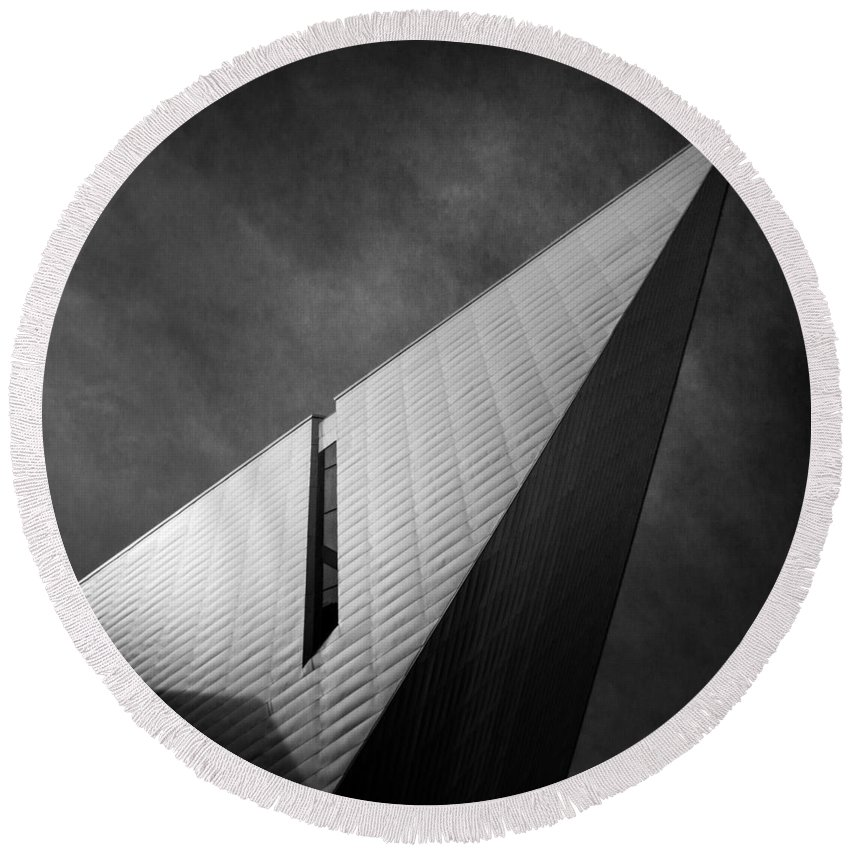 Denver Round Beach Towel featuring the photograph Denver Libeskind by Dayne Reast