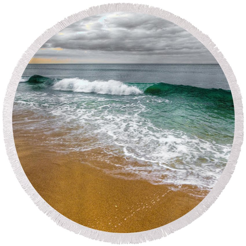 Desaturation Round Beach Towel featuring the photograph Desaturation by Chad Dutson