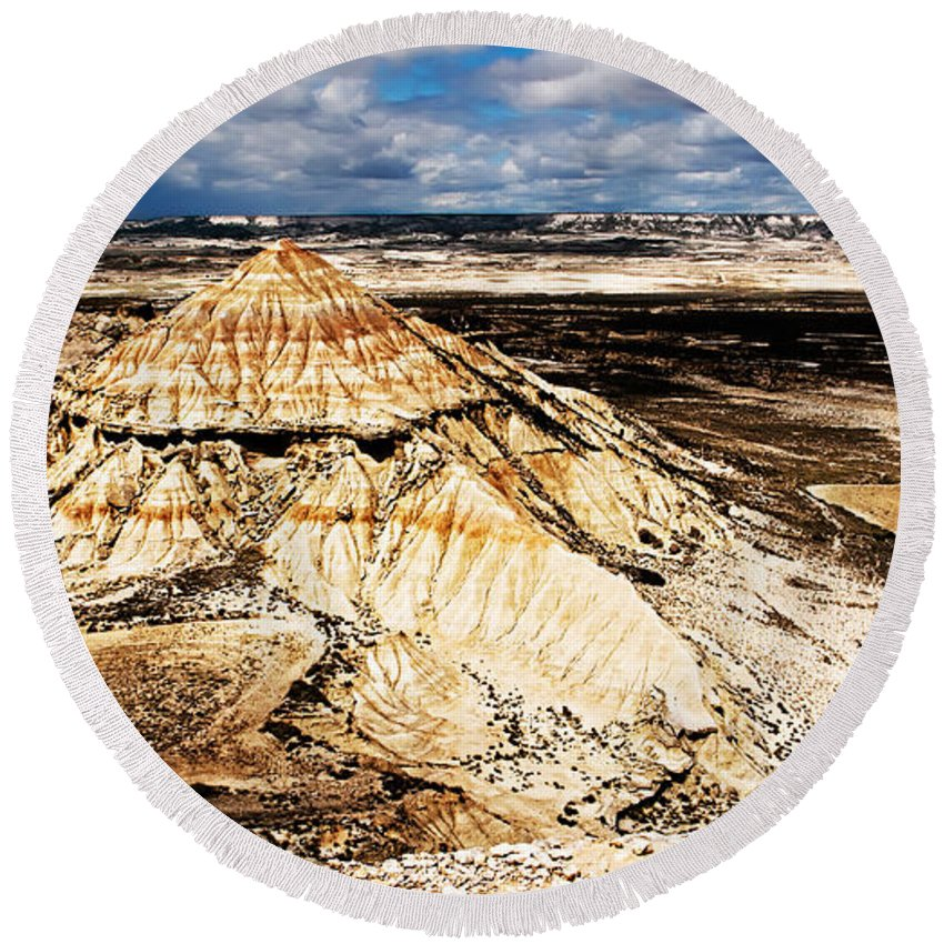 Desert Round Beach Towel featuring the photograph Desert Colors by Weston Westmoreland