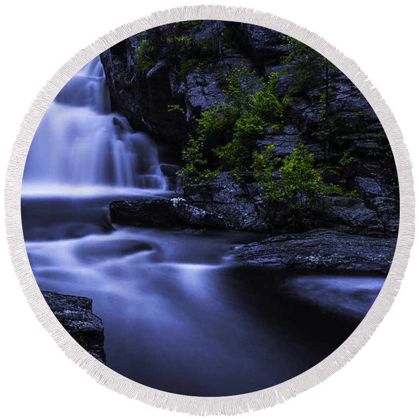 Waterfall Round Beach Towel featuring the photograph Devil's Hopyard Waterfall by Billy Bateman
