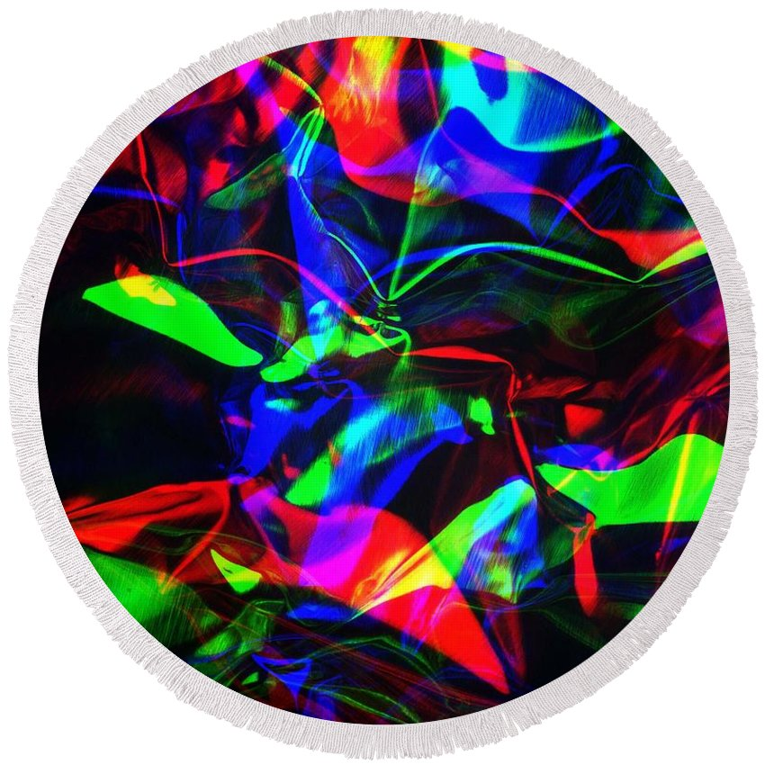 Rgb Round Beach Towel featuring the photograph Digital Art-a16 by Gary Gingrich Galleries