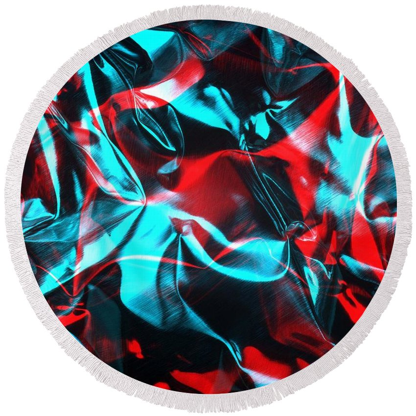 Rgb Round Beach Towel featuring the photograph Digital Art-a28 by Gary Gingrich Galleries