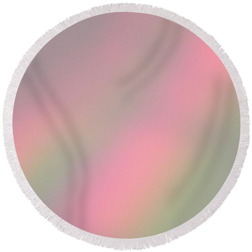 Refraction Round Beach Towel featuring the photograph Dispersion by Cheryl Hoyle