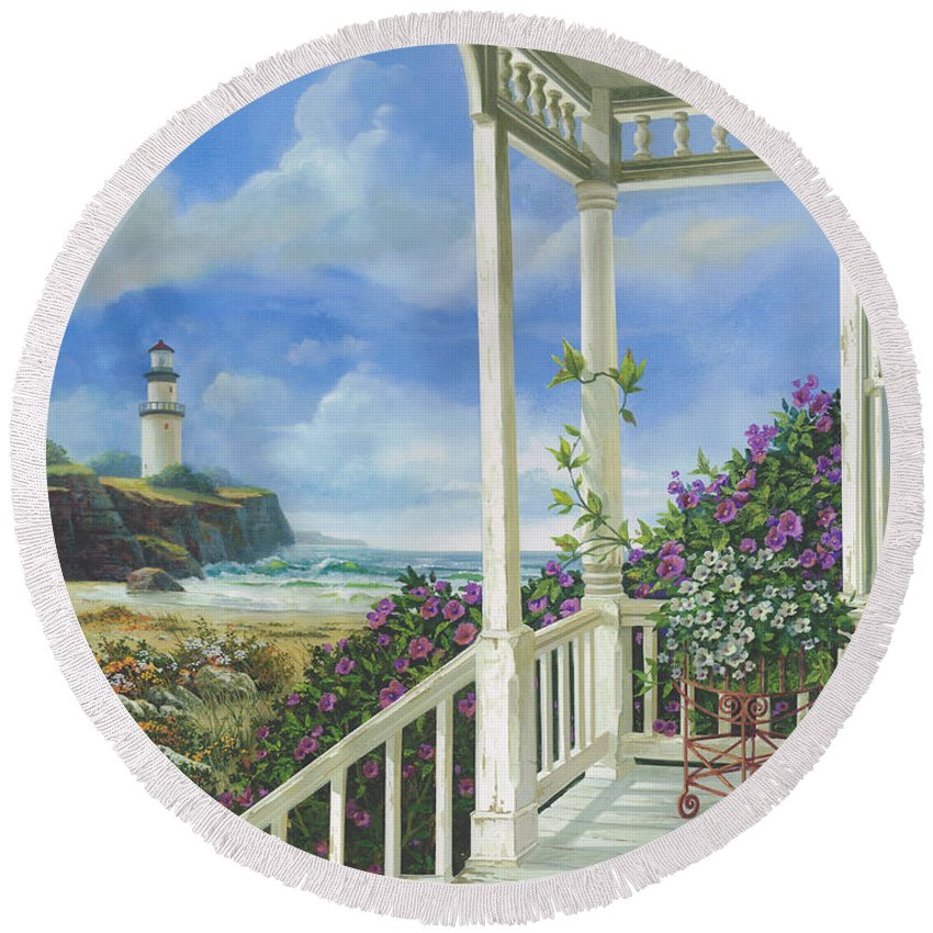 Porch Round Beach Towels