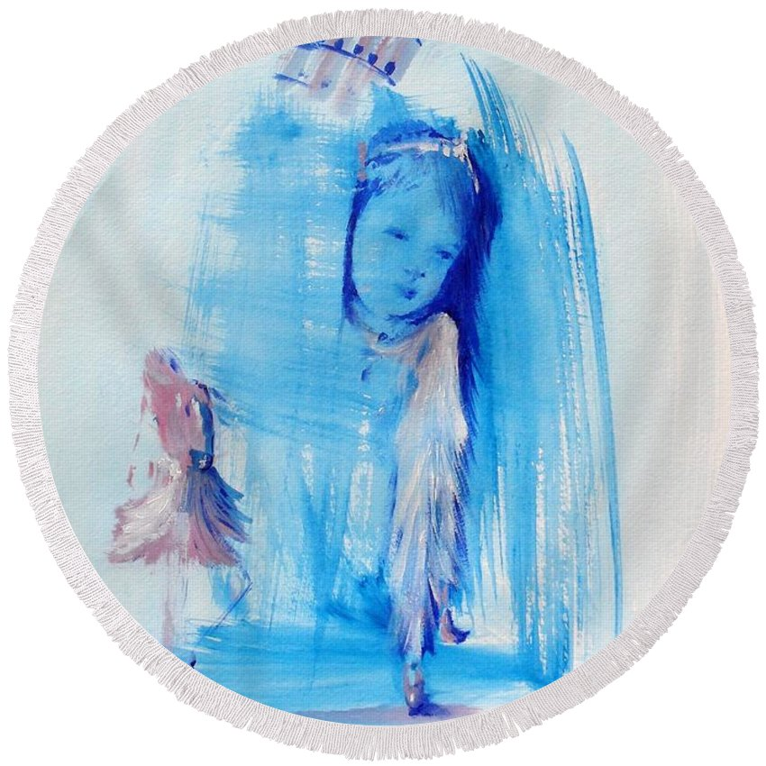 Princess Round Beach Towel featuring the painting Dreaming Of Pisa by Laurie Lundquist