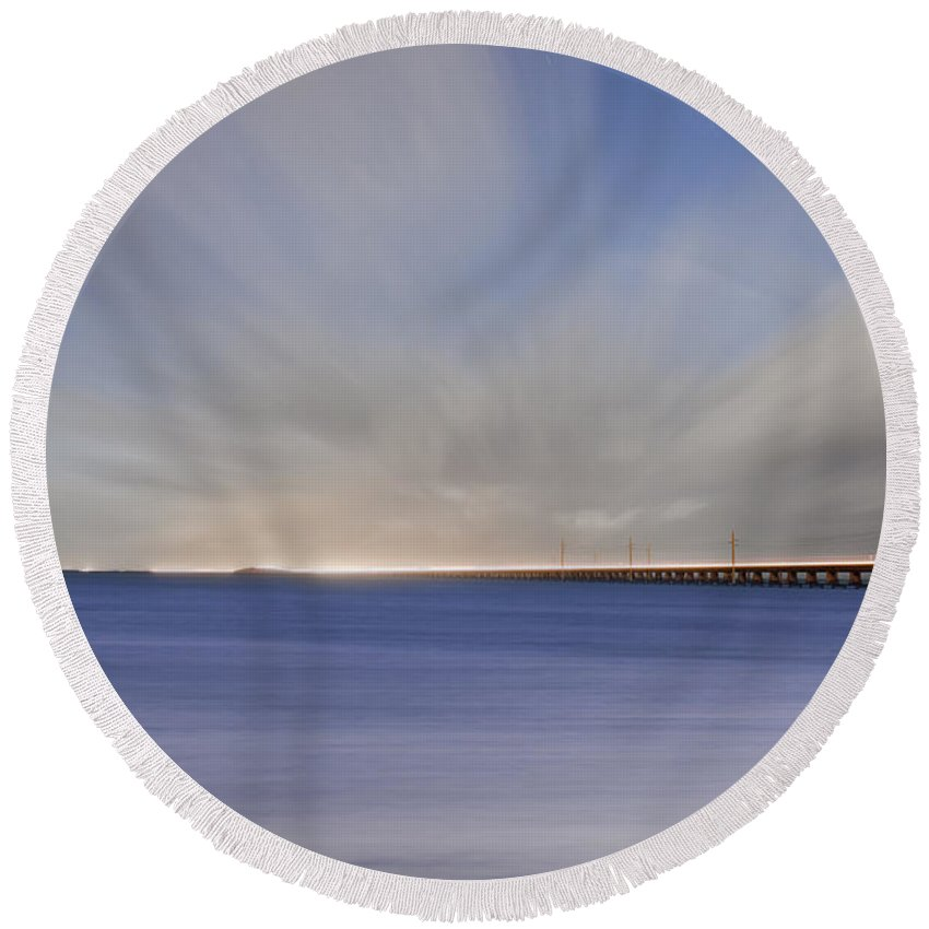 Key Round Beach Towel featuring the photograph Drifting Home Again by Scott Meyer
