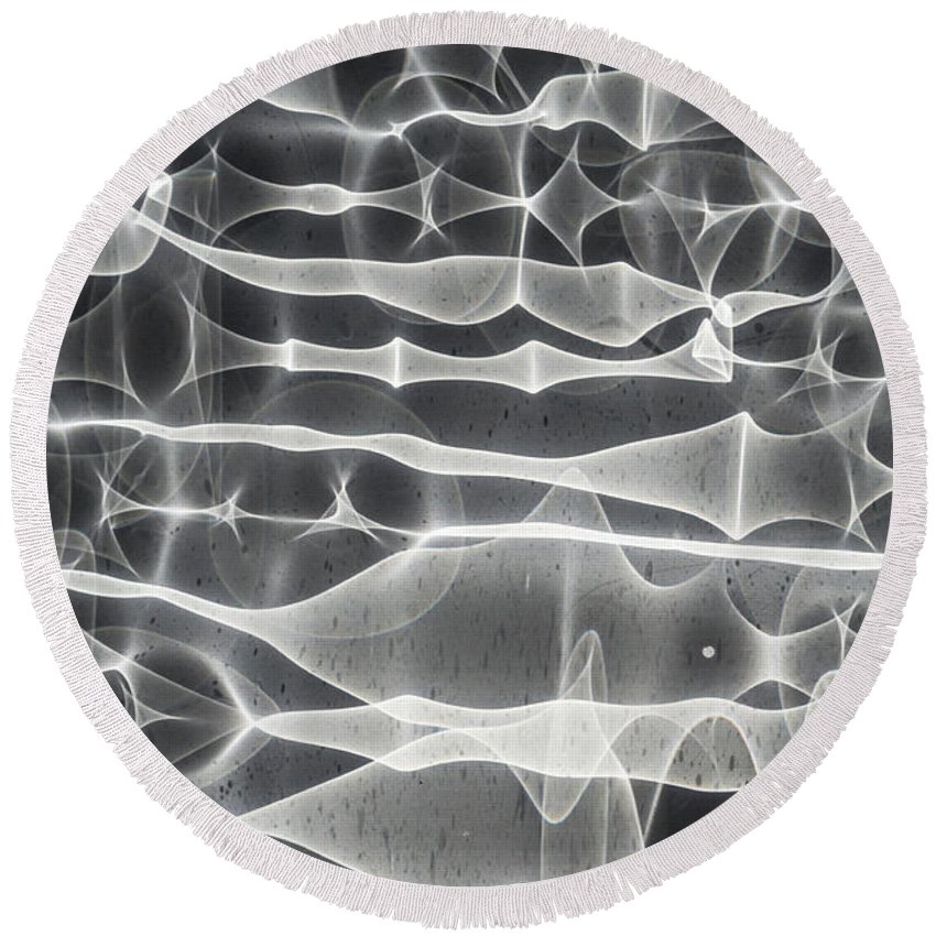 Dripping Round Beach Towel featuring the photograph Drip Chamber 3 by Scott Campbell