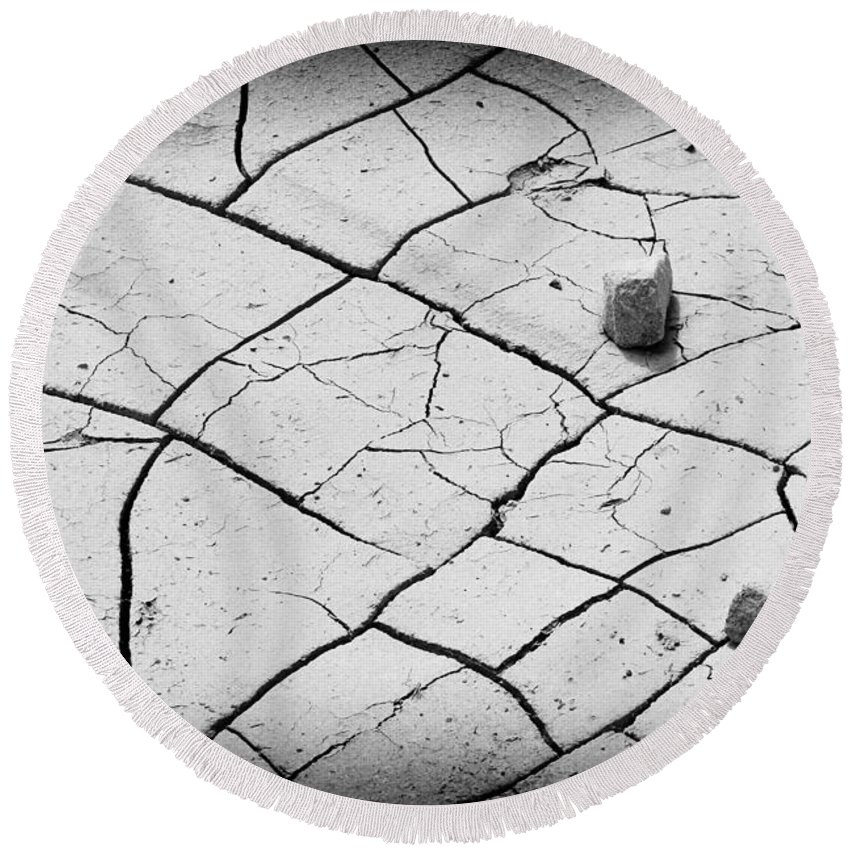 Dry Round Beach Towel featuring the photograph Cracks Of Time... by Shawn McMillan