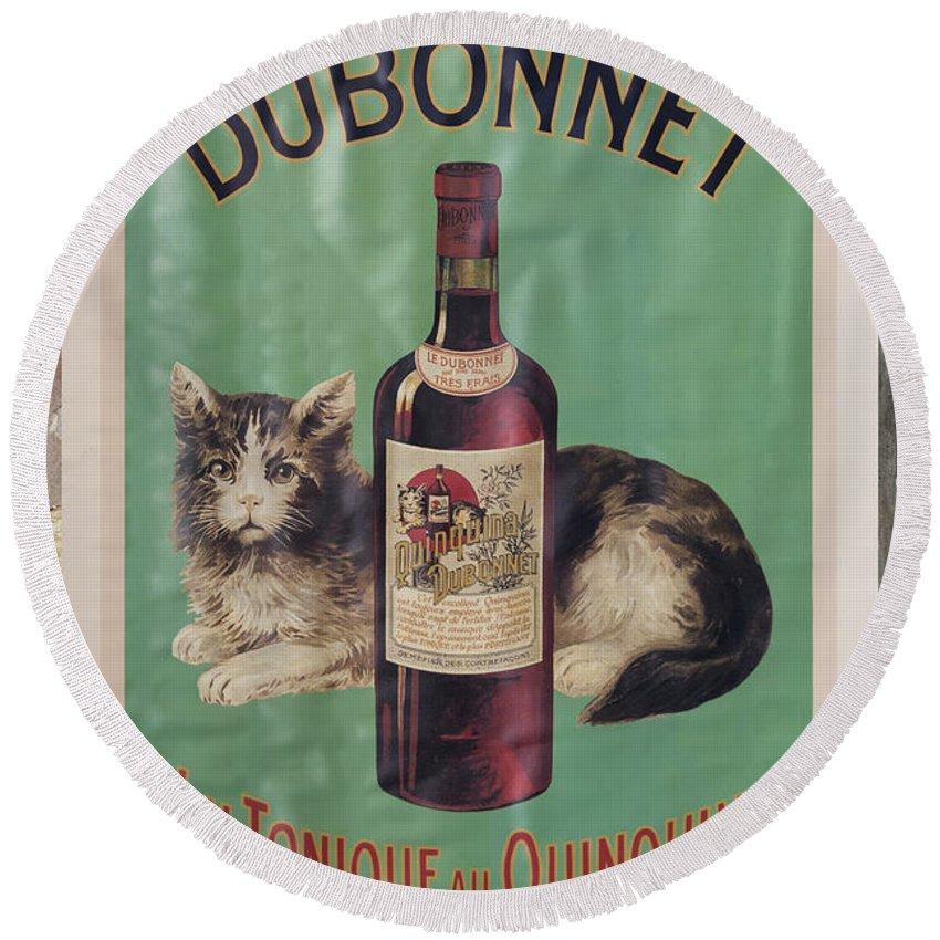 Dubonnet Round Beach Towel featuring the photograph Dubonnet Wine Tonic Dsc05585 by Greg Kluempers