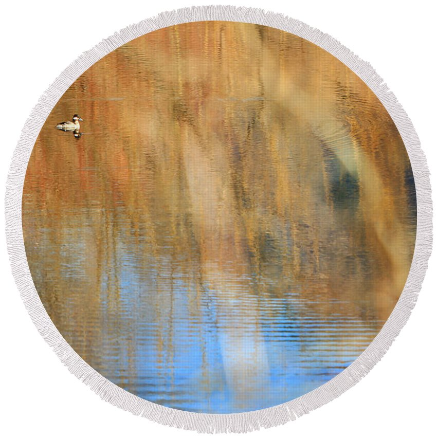 Lake Round Beach Towel featuring the photograph Ripple Effect 3 by Michelle Twohig