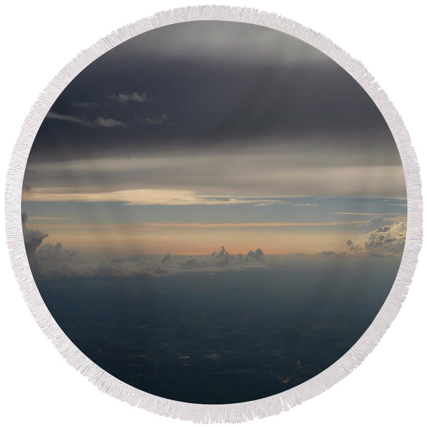 Earth Round Beach Towel featuring the photograph Earthly Layers by Dan McCafferty