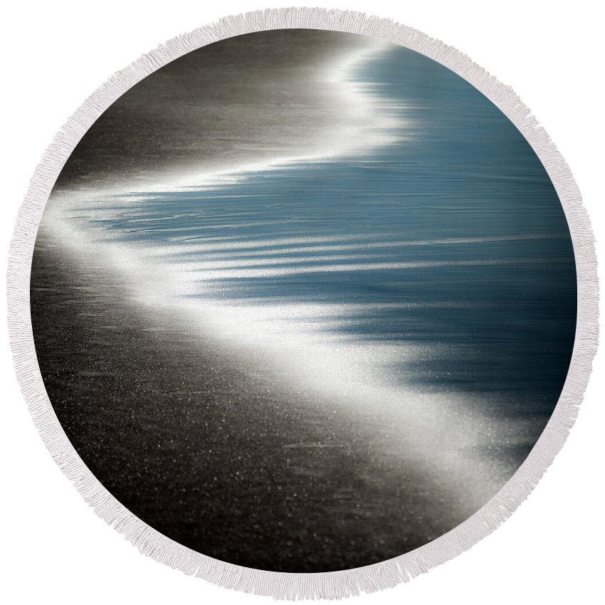 Beach Round Beach Towel featuring the photograph Ebb And Flow by Dave Bowman