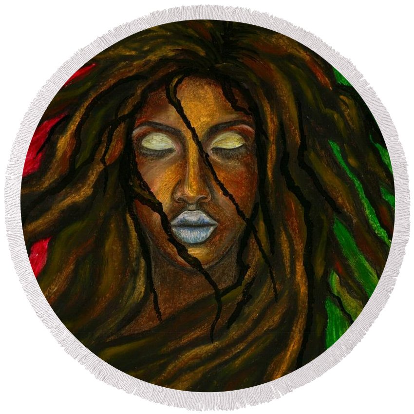 Beautiful Round Beach Towel featuring the photograph Empress Divine by Artist RiA