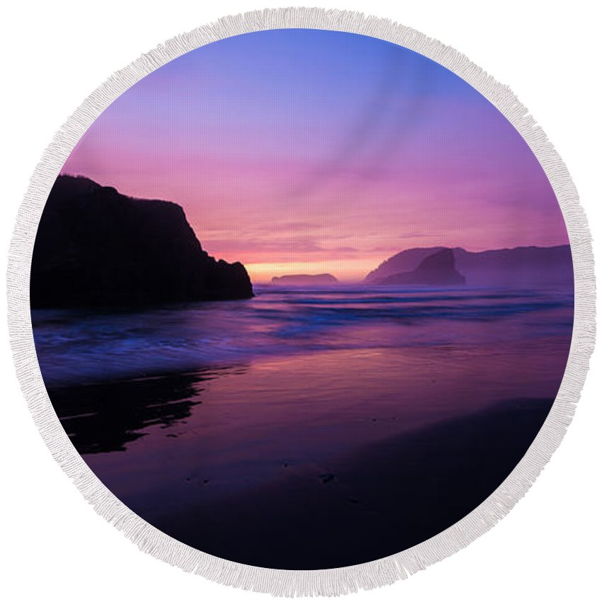 Chad Dutson Round Beach Towel featuring the photograph Essence by Chad Dutson