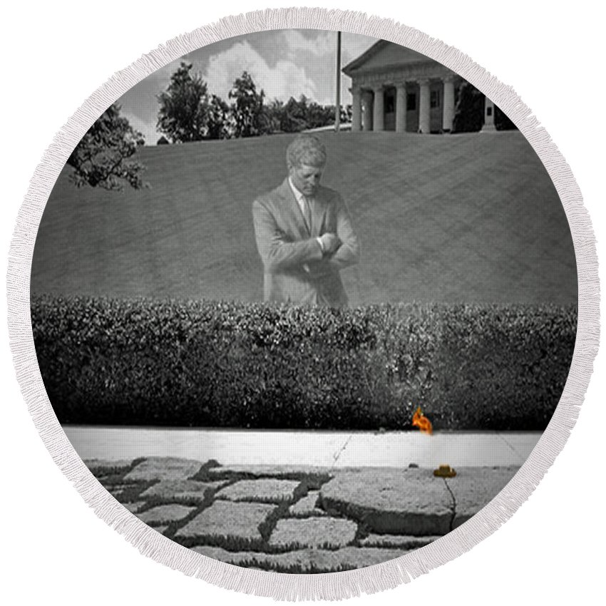 John Round Beach Towel featuring the photograph Eternal Remembrance by Jost Houk
