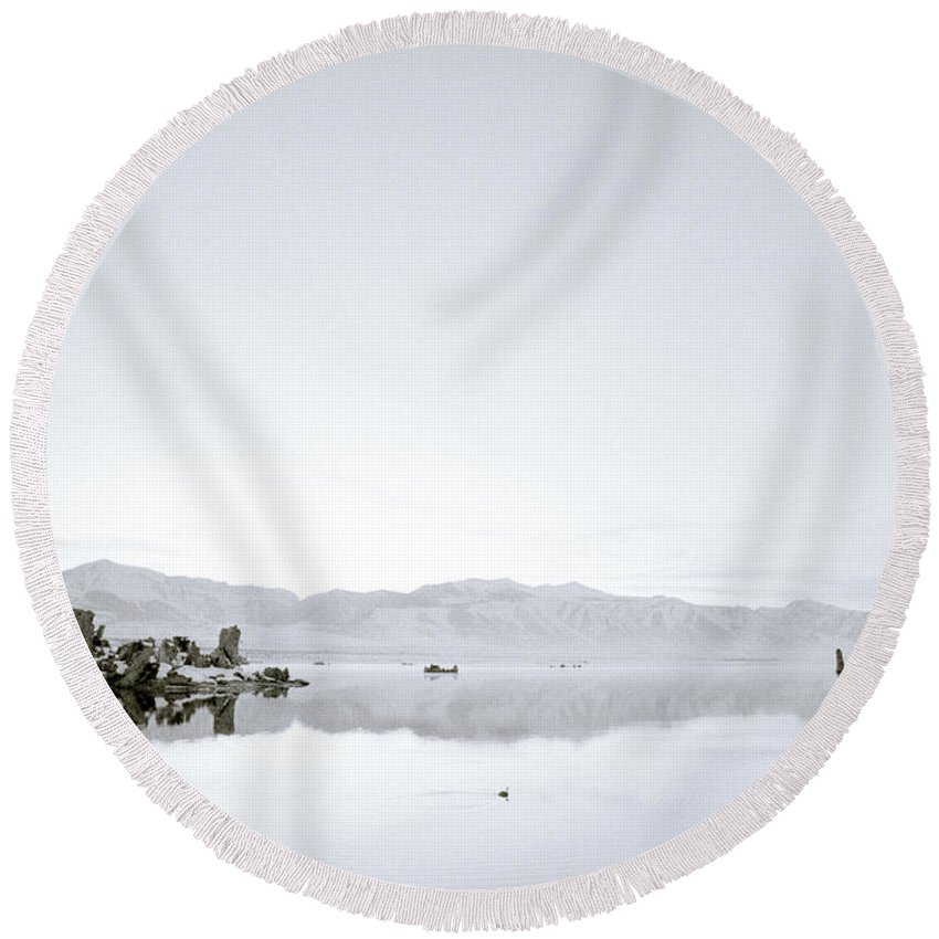 Inspiration Round Beach Towel featuring the photograph Ethereal Mono Lake by Shaun Higson