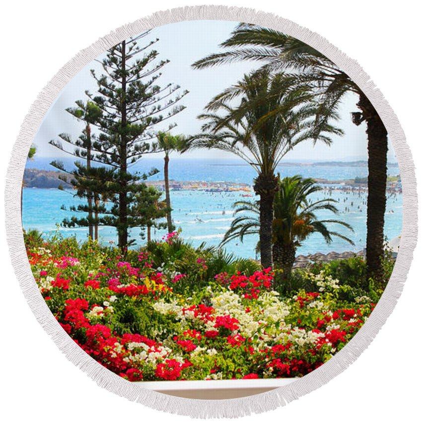 Augusta Stylianou Round Beach Towel featuring the photograph Exotic Beach by Augusta Stylianou