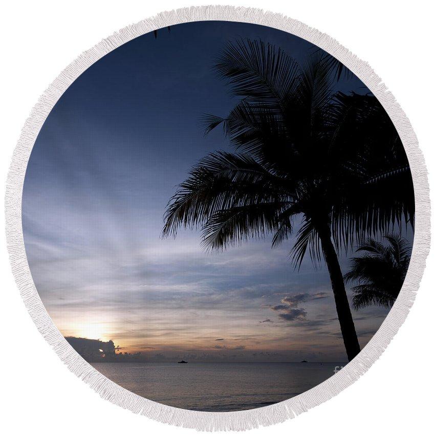 Thailand Round Beach Towel featuring the photograph Exotic Sunrise by Antony McAulay