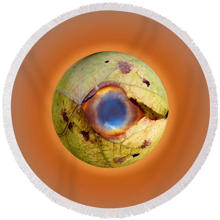 Eyeball Round Beach Towel featuring the digital art Eye See You by Steve Herndon
