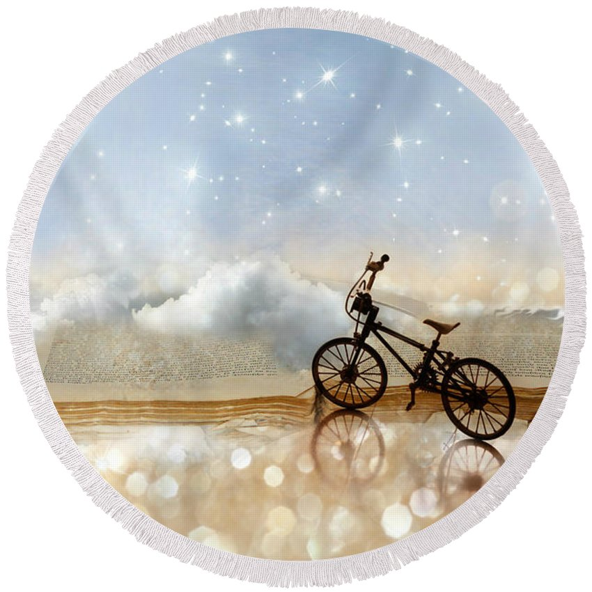 Still Life Round Beach Towel featuring the photograph Fairytale by Heike Hultsch