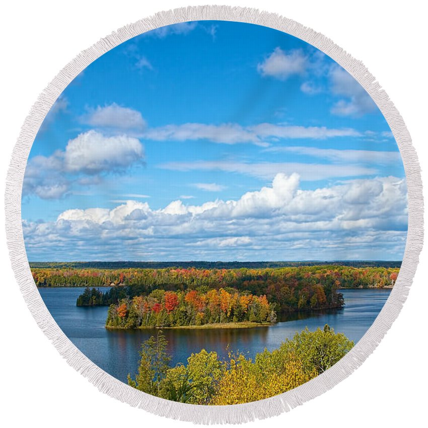 Fall Round Beach Towel featuring the photograph Fall Beauty by Tim Schmidt