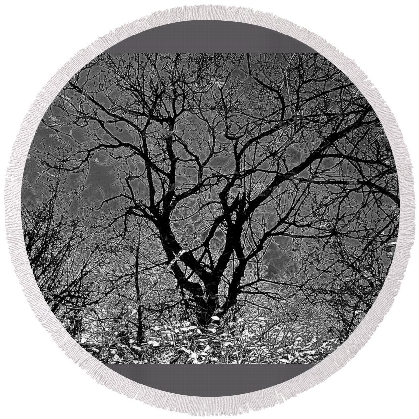 Seasonal Round Beach Towel featuring the photograph Fall Reflection by Tim G Ross