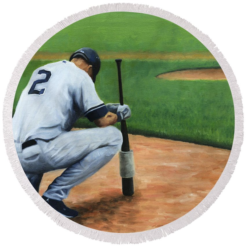 Derek Jeter Round Beach Towels