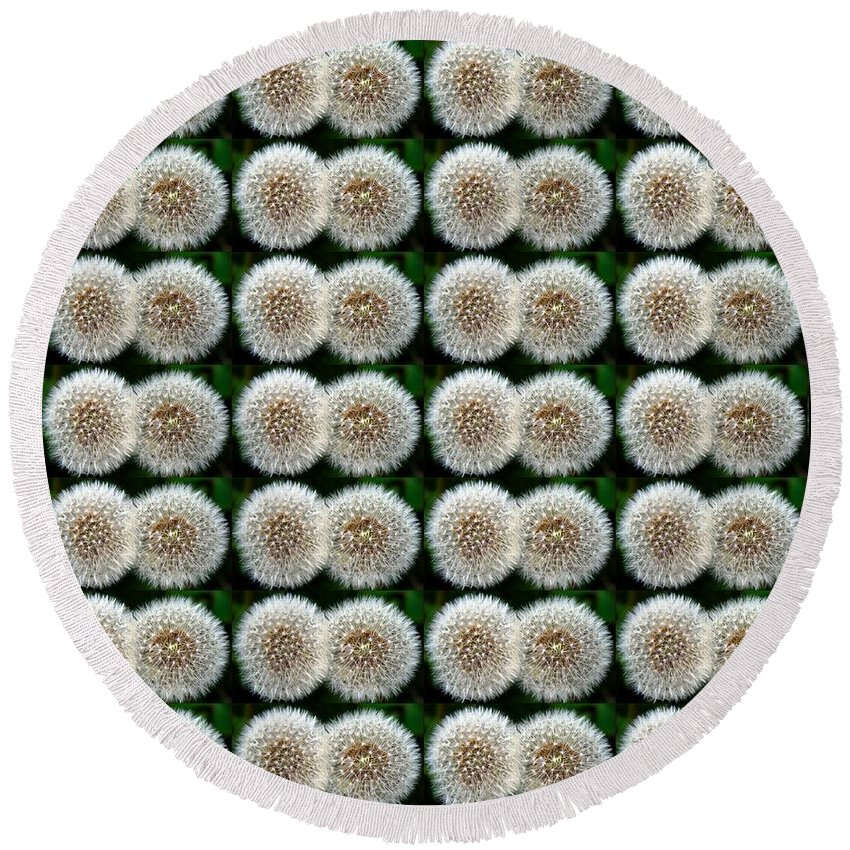 Field Of Wishes Round Beach Towel featuring the photograph Field Of Wishes by Barbara Griffin