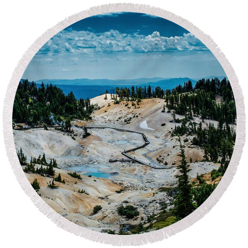 Sierra Round Beach Towel featuring the photograph First View 8x10 by Along The Trail