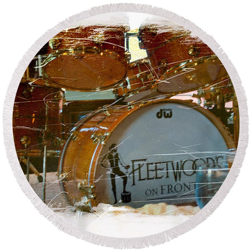 Interior Design Round Beach Towel featuring the photograph Fleetwood's Drums by Paulette B Wright