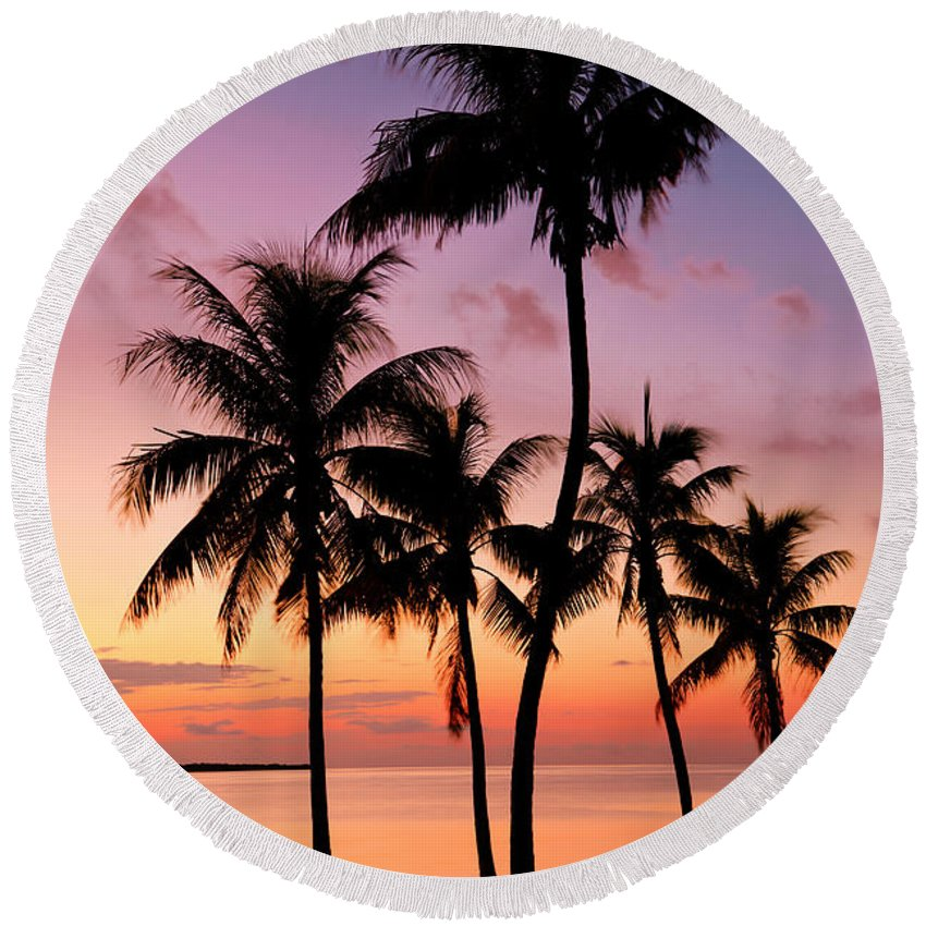 Reflections Round Beach Towels