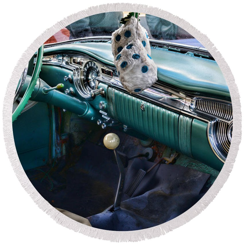 Paul Ward Round Beach Towel featuring the photograph Four On The Floor by Paul Ward