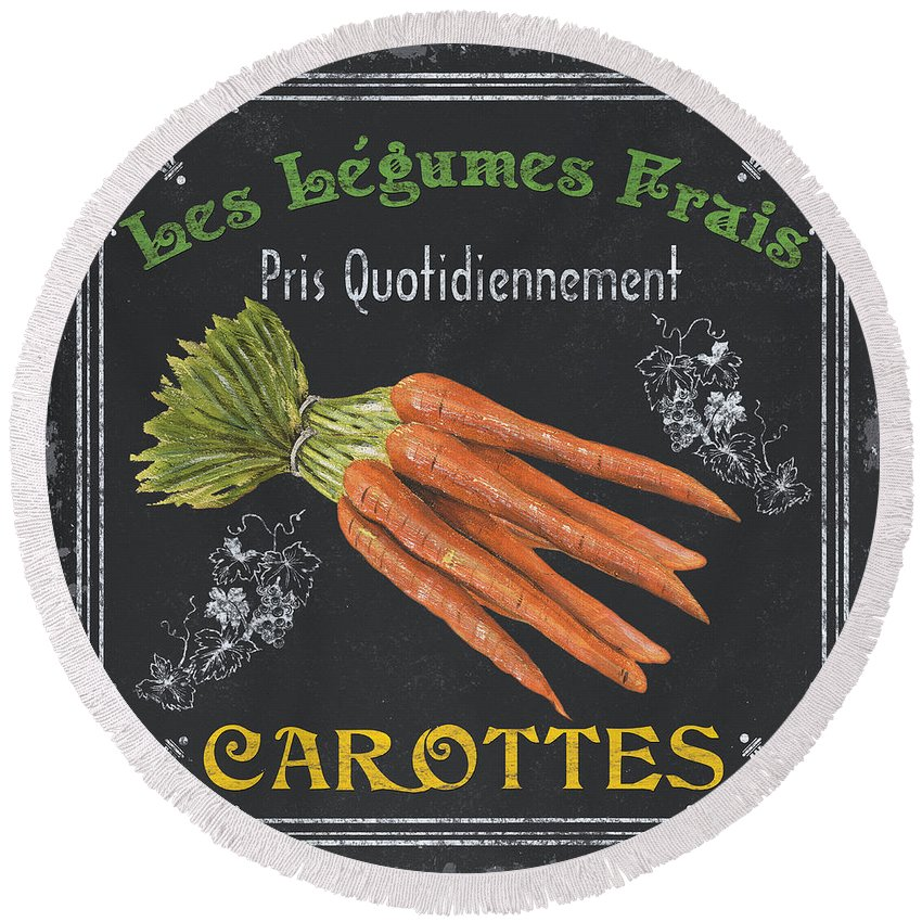 Carrots Round Beach Towels