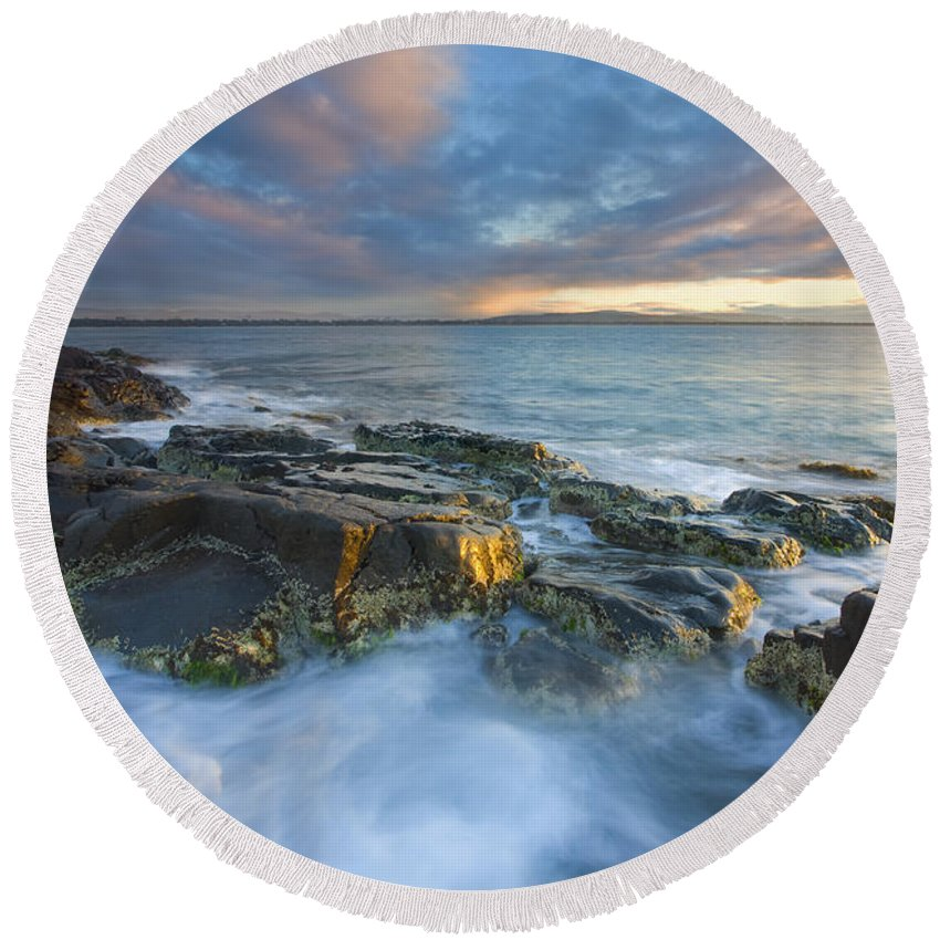 Freycinet Round Beach Towel featuring the photograph Freycinet Cloud Explosion by Mike Dawson