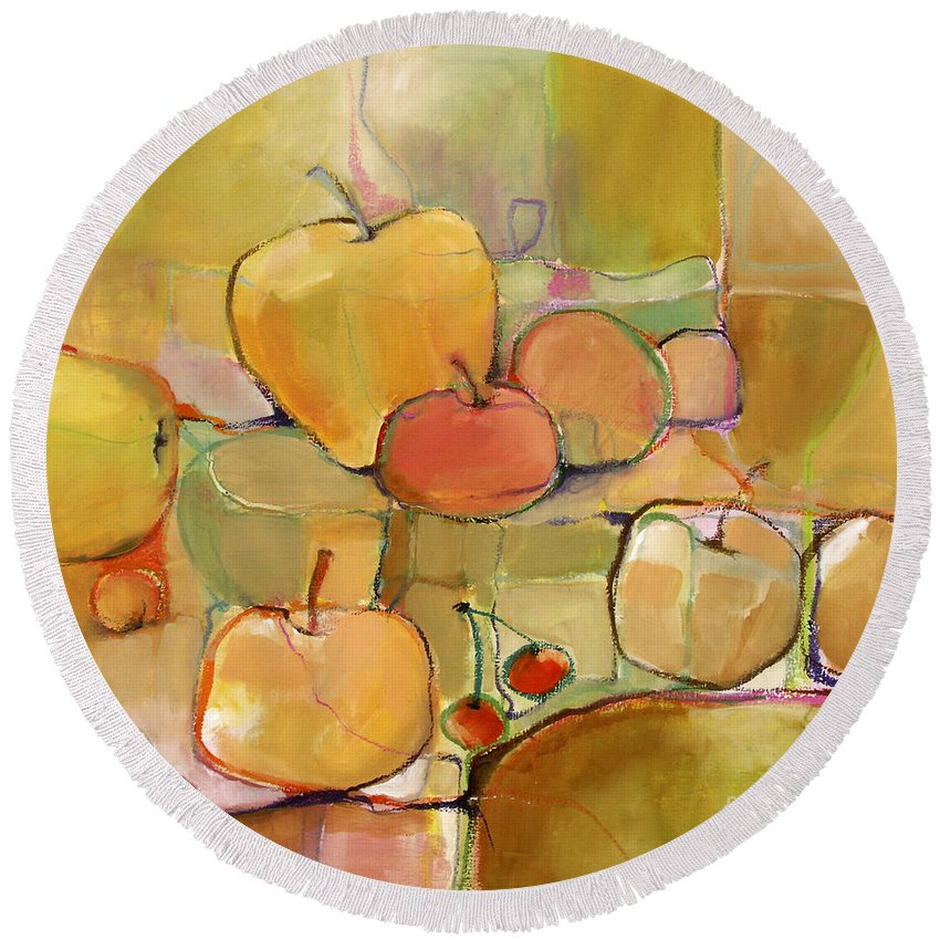 Fruit Round Beach Towel featuring the painting Fruit Still Life by Michelle Abrams