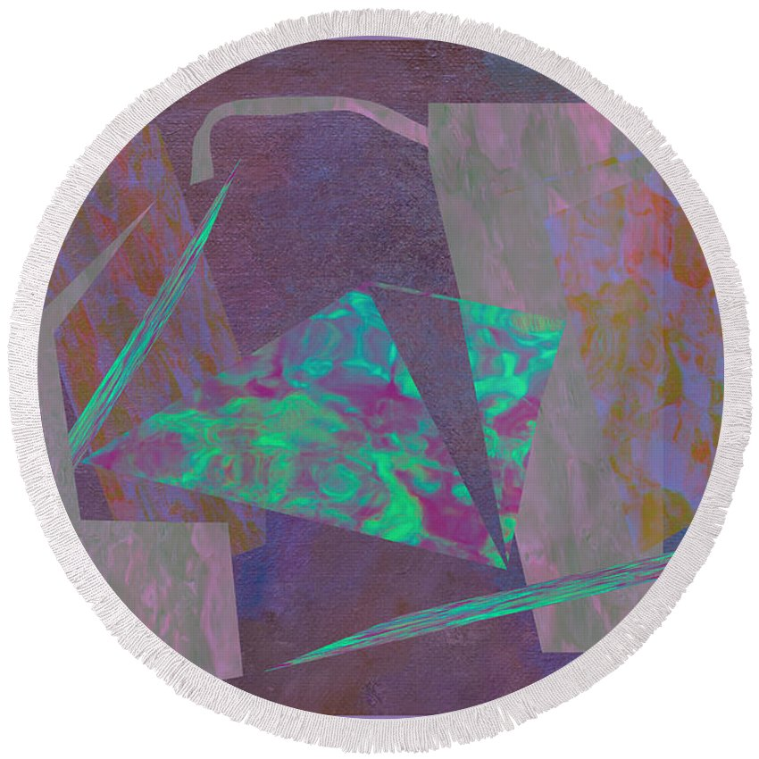 Abstract Round Beach Towel featuring the photograph Gabo by Linda Dunn