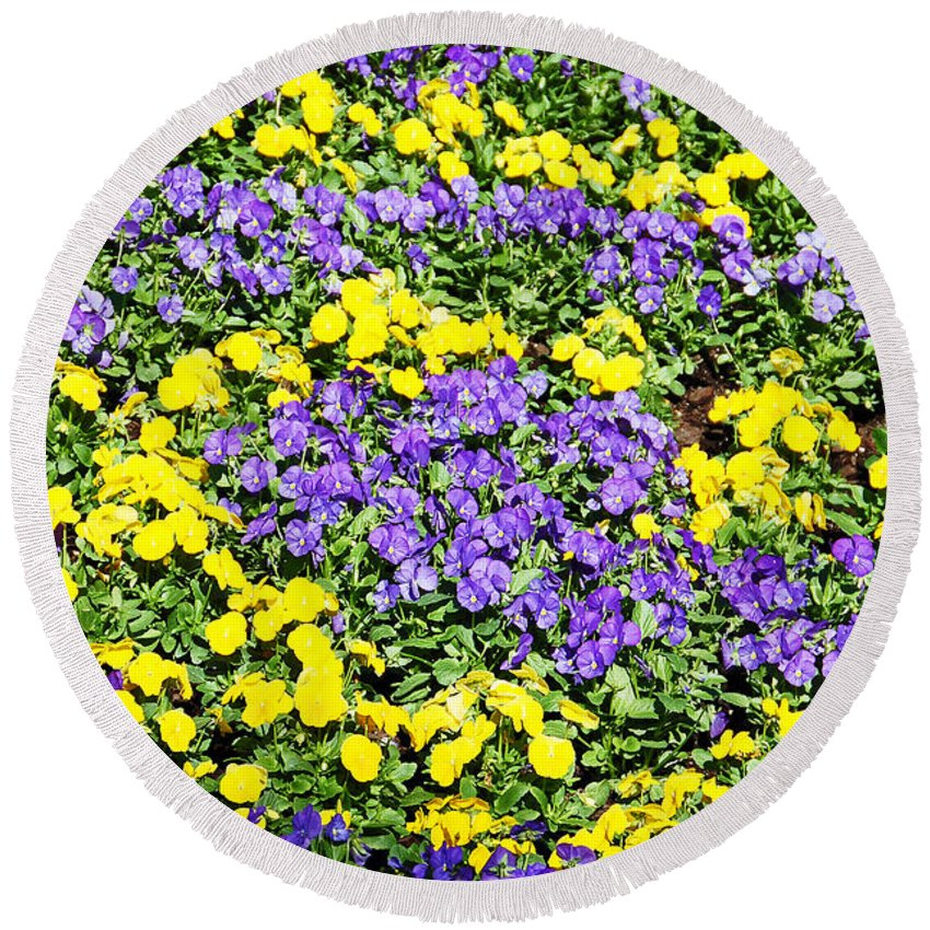 Flower Round Beach Towel featuring the photograph Garden Design by Aimee L Maher ALM GALLERY