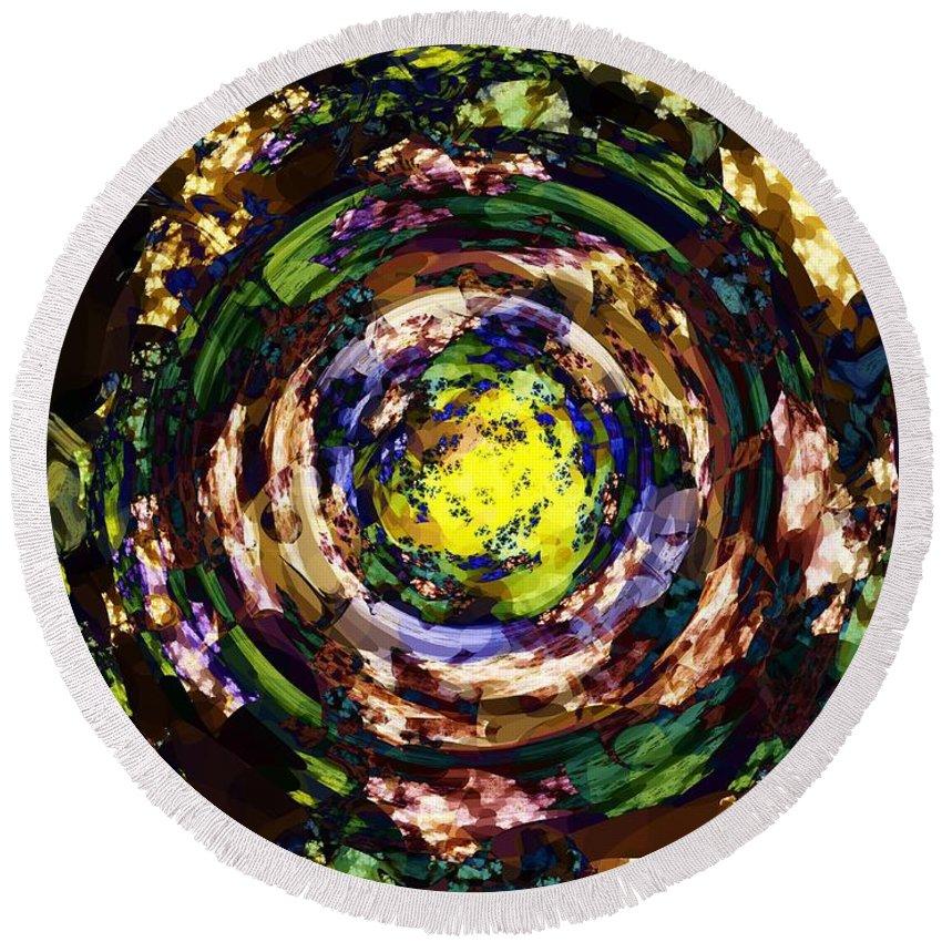 Garden Round Beach Towel featuring the digital art Garden Sun by Elizabeth McTaggart