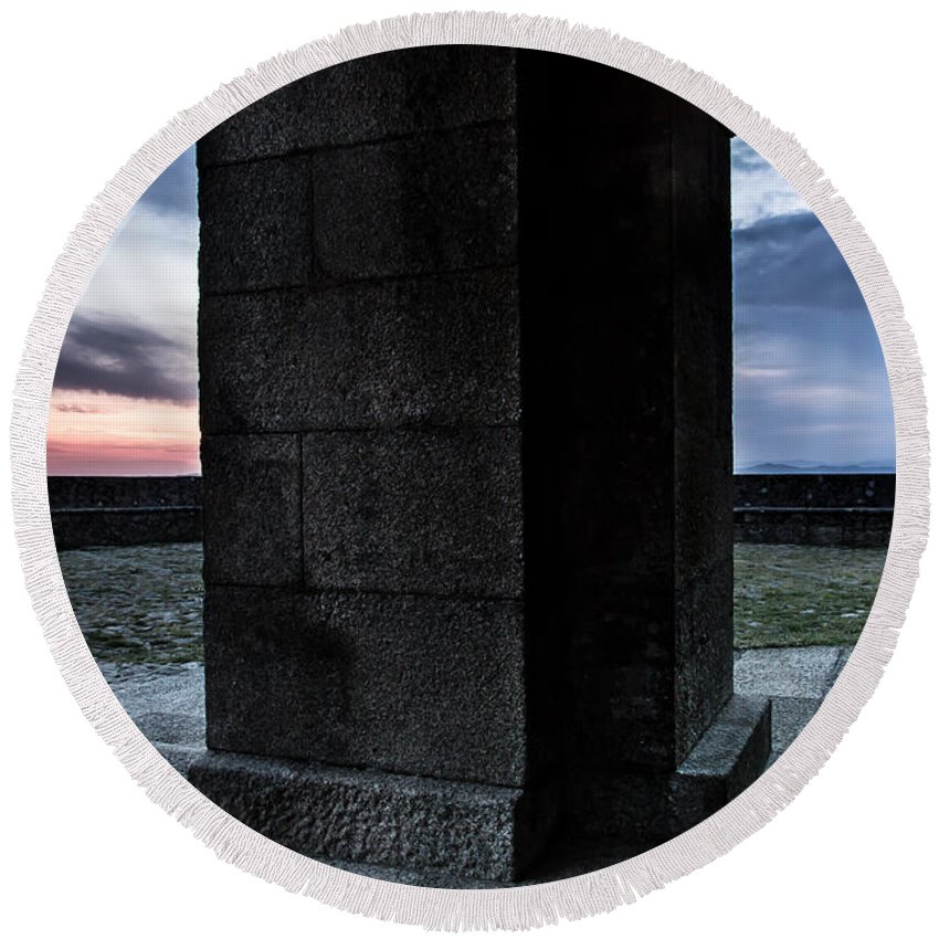Mondim De Basto Round Beach Towel featuring the photograph Gate To Heaven by Edgar Laureano