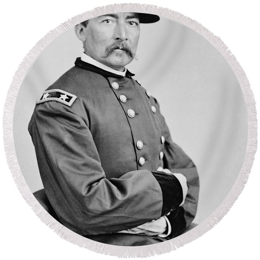 Philip Sheridan Round Beach Towel featuring the photograph General Philip Sheridan by Mountain Dreams