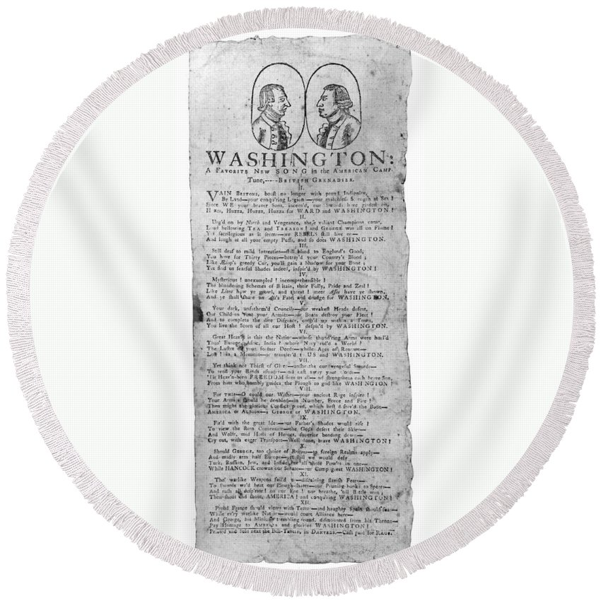 1775 Round Beach Towel featuring the photograph George Washington: Song by Granger