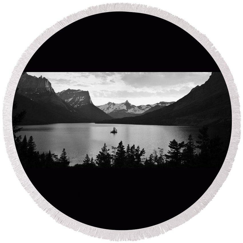 Glacier National Park Round Beach Towel featuring the photograph Goose Island by Crystal Wightman