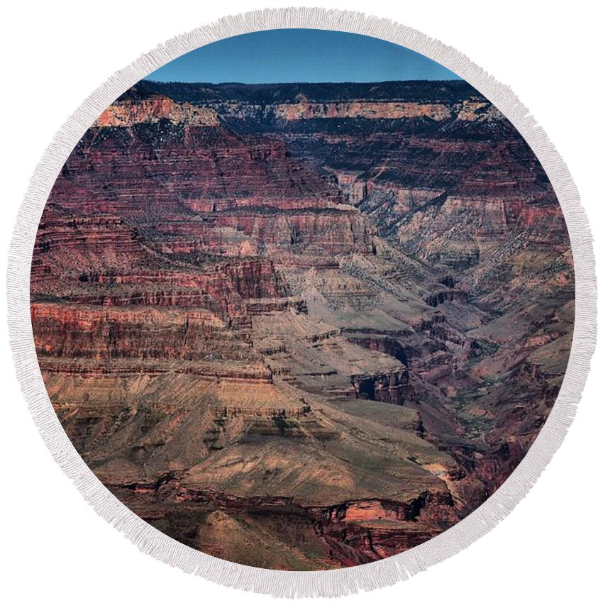 Grand Canyon Round Beach Towel featuring the photograph Grand Canyon 5 by Robert McCubbin