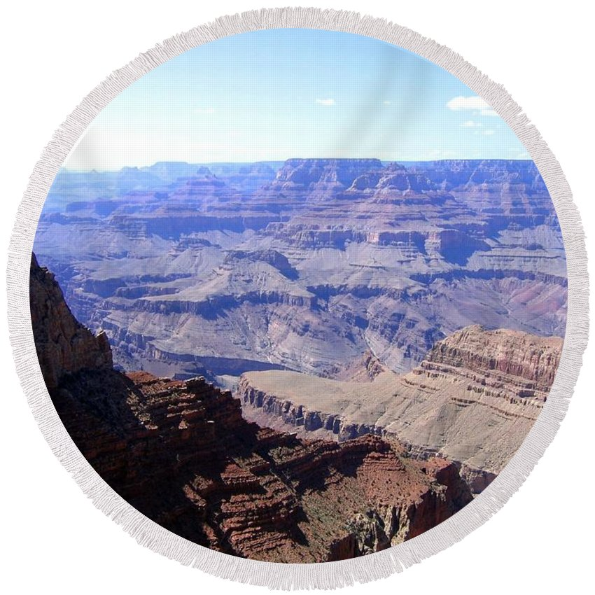 Grand Canyon Round Beach Towel featuring the photograph Grand Canyon 65 by Will Borden